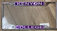 LICENSE PLATE FRAME - KENYON COLLEGE