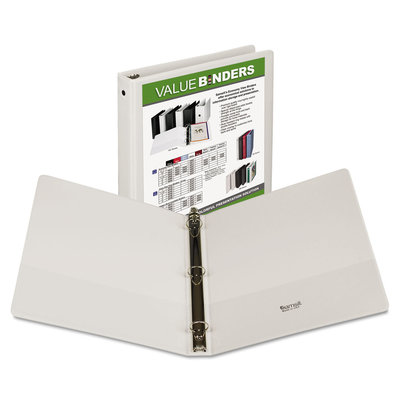 "3 RING BINDER 1"" INSERTABLE WHITE"