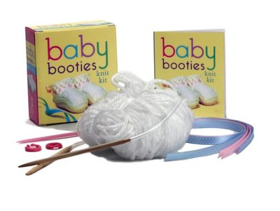 Baby Booties Knit Kit [With Knitting Needles, Stitch Markers, Yarn and Paperback Book and Ribbon]