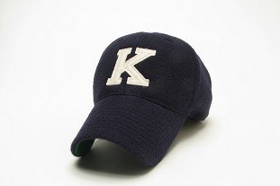 "CAP VINTAGE NAVY WITH SEWN ""K"""