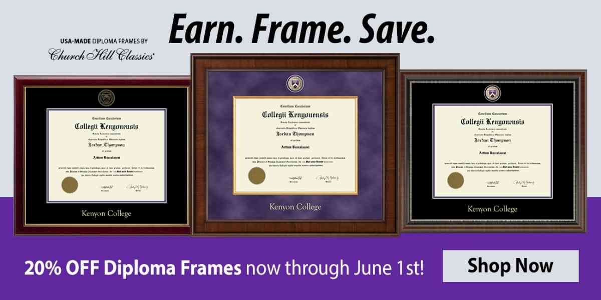 20% Off All Diploma Frames